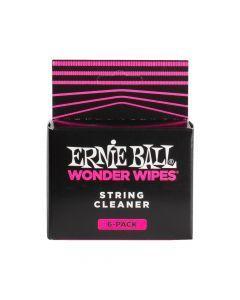 Ernie Ball Wonder Wipes String Cleaner, 6-Piece